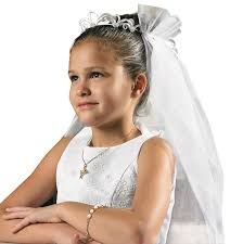 communion veil tiara communion veil