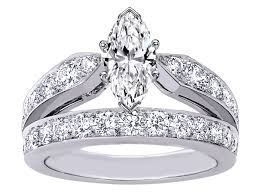 diamond double rings images Engagement ring marquise cut diamond double band engagement ring jpg