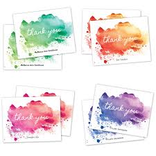 watercolor notecards watercolor paint splatter thank you cards bug