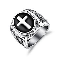 religious rings wholesale stainless steel mens religious cross rings jc fashion