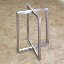 stainless steel table base apollo table bases custom metal home