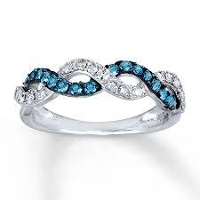 blue wedding rings blue diamond rings jarads wedding promise diamond engagement