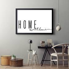 home sweet home horizontal print