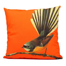 cushion cover fantail orange nz gifts for home from the vault