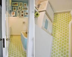 How To Install Vinyl Flooring In A Bathroom 10 Stenciled U0026amp Painted Diy Floors That Make It Work