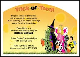 kids kooky spooky halloween birthday party invitations number