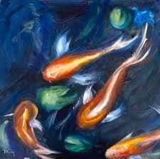 koi painting koi pond by donna tuten