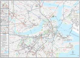 Green Line Boston Map by Boston Downtown Transport Map U2022 Mapsof Net