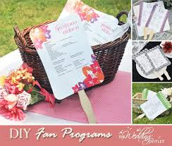 print at home wedding programs wednesday wedding accessory diy wedding program fans