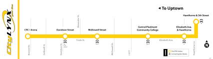 Charlotte Map Citylynx Gold Line
