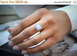 small fashion rings images Christmas sale lace agate ring square small ring silver ring jpg