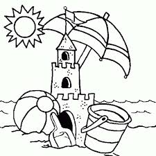 sand castle coloring pages funycoloring