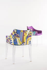 madame padded armchair emilio pucci fabric rome violet seat