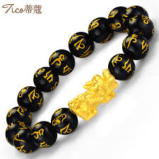 gold lucky bracelet images Tiffany t0187 lucky money gold bracelet men 39 s years of life golden jpg