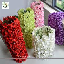 wedding backdrop china uvg wall decoration flower backdrop in hydrangea petals for