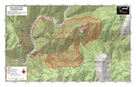 Wildfire Map National by Trailhead American River Canyon Foresthill Yubanet Fire News