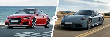 porsche cayman comparison audi tt rs vs porsche 718 cayman s comparison carwow