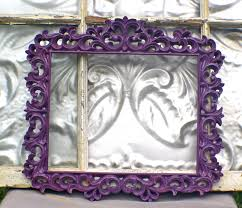 Purple Home Decorations by Ornate Picture Frame 8 X 10 Plum Purple Picture Frame Wedding