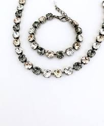 black swarovski crystals necklace images 22 best sabika images jewerly beads and black diamonds jpg