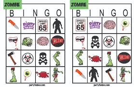 Free Printable Halloween Bingo Cards With Pictures Free Zombie Printables From Party Fun Box Catch My Party