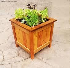 diy planter box diy cedar planter box free garden plans how to build garden