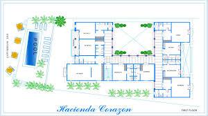 Hacienda Floor Plans Beachfront Vacation Rental Villa Puerto Aventuras Fatima Bay