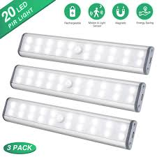 best wireless cabinet lighting motion sensor cabinet lighting closet light 20 leds 3 packs