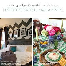 Home Decorating Magazine Cutting Edge Stencils Spotted In Diy Decorating Magazines