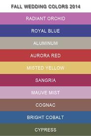 10 pantone fall wedding colors 2014 trends