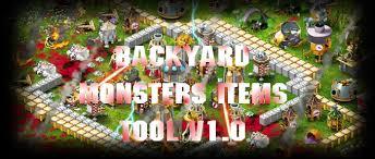 Backyard Monsters Cheats Backyard Monsters Items Tool V1 0 Backyard Monsters Items Tool V1 0