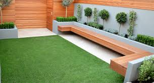 family garden and landscaping low maintenance lawn garden trends