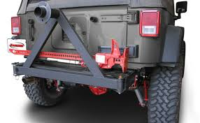 jeep wrangler road bumper jeep jk wrangler rear road bumper with tire carrier