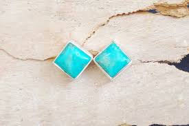 turquoise earrings studs 55 turquoise stud earrings sterling silver turquoise stud