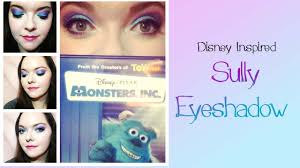 monsters inc sully inspired eye makeup tutorial youtube