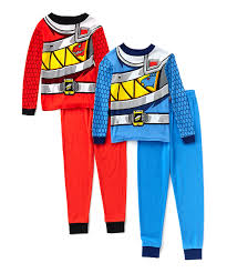 red power ranger costume for toddlers power rangers power ranger four piece red u0026 blue pajama set boys