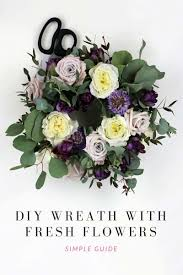 learn how to make a diy wreath in less than 30 min the smell of