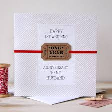 1st year wedding anniversary personalised wedding anniversary card by button box cards