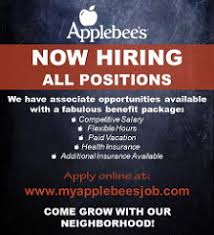 applebee u0027s applebee u0027s server cook bartender and hostess job