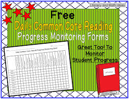 free common core reading progress monitoring chart from my