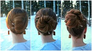 updos for long hair i can do my self 3 easy diy updos for new years youtube
