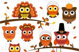 thanksgiving owl clipart vectors illustrations creative market