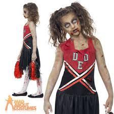 Girls Zombie Halloween Costume Girls Zombie Cheerleader Costume Teen Cheerless Halloween