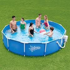 decorating winsome blue summer escapes round metal frame walmart decorating winsome blue summer escapes round metal frame walmart intex pool on green grass garden home exterior idea