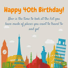 40th happy birthday messages happy 40th birthday greeting card by