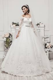 sle wedding dresses 2016 beautiful shoulder three quarter sleeves beading