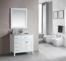 Bathroom Vanity With Drawers On Left Side Design Element Dec076d W L London 36 Inch Single Sink Vanity Set