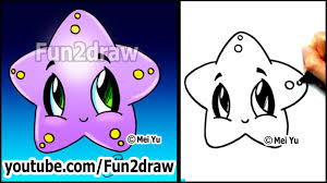 easy drawing tutorials how to draw a cute starfish cartoon art