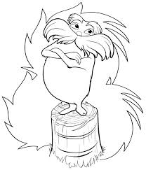 lorax coloring pages dr seuss coloringstar
