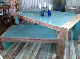Teal Dining Table by Modern Refurbished Dining Table And Matching Coffee Table 300