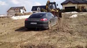 Porsche Panamera Brown - porsche panamera 4s pulled by a digger youtube